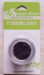 Hair Fusion Links (Silicone/Black/Small/90ct)