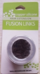 Hair Fusion Links (Silicone/Dark Brown/Small/90ct)